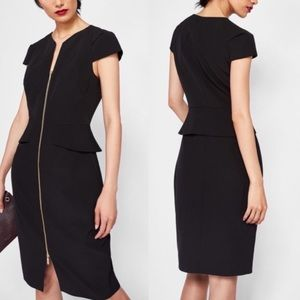 Ted Baker Fearnid Pencil Dress Black Size 1
